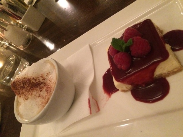 Vanilla & Raspberry Cheesecake & Cappuccino